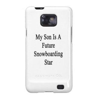 Mi hijo es una estrella futura de la snowboard galaxy s2 fundas