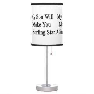 Mi hijo le hará la estrella que practica surf de A