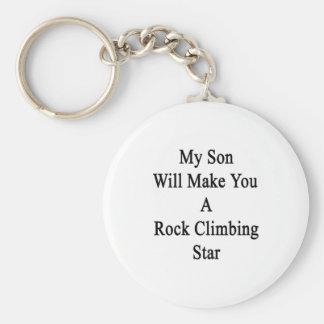 Mi hijo le hará una estrella de la escalada llaveros