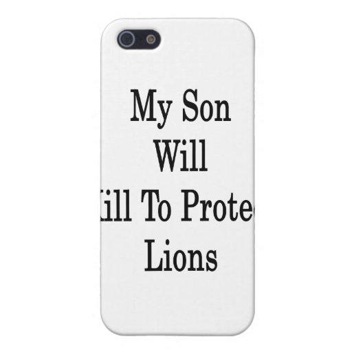 Mi hijo matará para proteger leones iPhone 5 coberturas