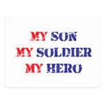 Mi hijo, mi soldado, mi héroe tarjetas postales