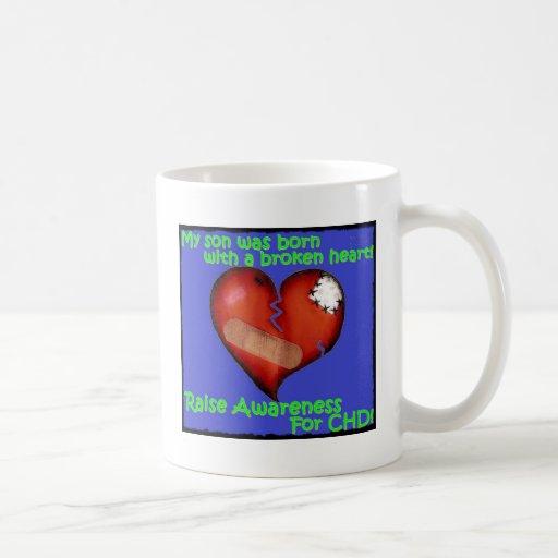 Mi hijo nació con un corazón quebrado tazas de café