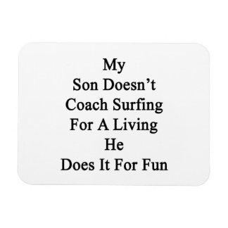 Mi hijo no entrena practicar surf para la vida de  imanes