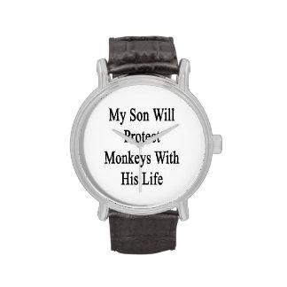 Mi hijo protegerá monos con su vida relojes