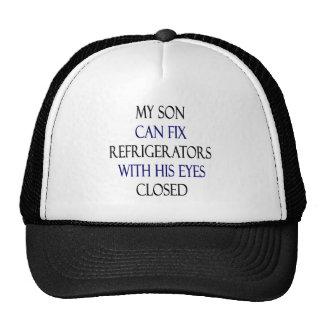 Mi hijo puede fijar los refrigeradores con sus ojo gorras