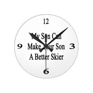 Mi hijo puede hacer su hijo a un mejor esquiador reloj redondo mediano