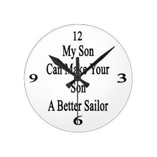 Mi hijo puede hacer su hijo a un mejor marinero reloj redondo mediano