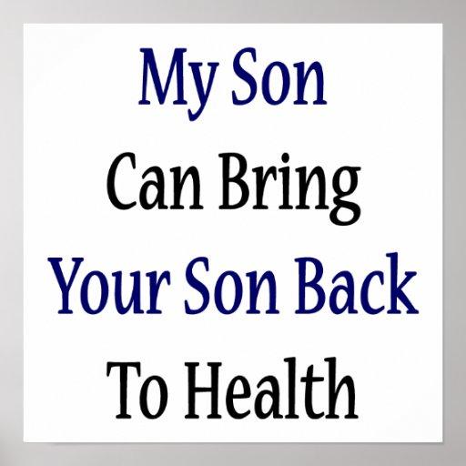 Mi hijo puede traer a su hijo de nuevo a salud poster