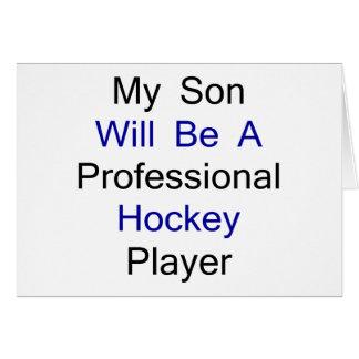 Mi hijo será un jugador de hockey profesional tarjetón