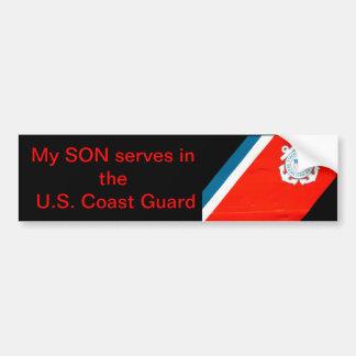 mi hijo sirve el USCG Pegatina De Parachoque