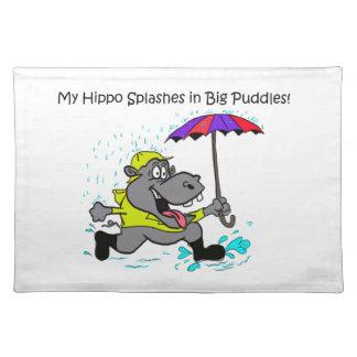 Mi hipopótamo Placemat Manteles