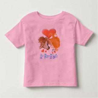 Mi hirt indicado con letras del amor de PonyZ Playera De Niño