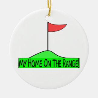 Mi hogar en el golf de la gama ornamento de navidad