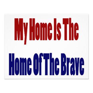 Mi hogar es el hogar del valiente anuncio