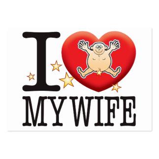 Mi hombre del amor de la esposa tarjetas de visita grandes