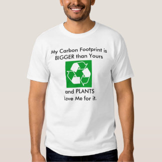 Mi huella del carbono es más grande que la suya poleras