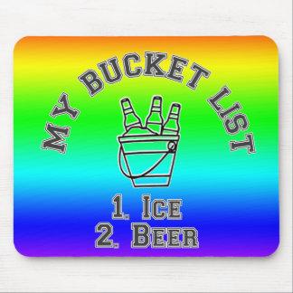 Mi humor de la lista del cubo - hielo y cerveza tapete de ratón