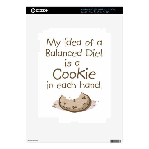 Mi idea de una dieta equilibrada iPad 3 pegatinas skins