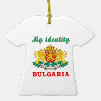 Mi identidad Bulgaria Adorno De Cerámica En Forma De Playera