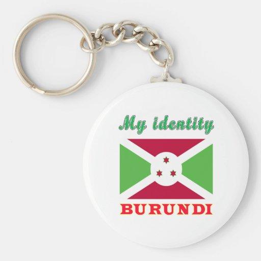 Mi identidad Burundi Llavero Redondo Tipo Pin