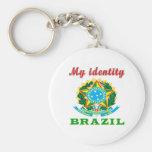 Mi identidad el Brasil Llavero