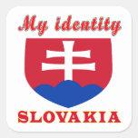 Mi identidad Eslovaquia Calcomanías Cuadradas Personalizadas