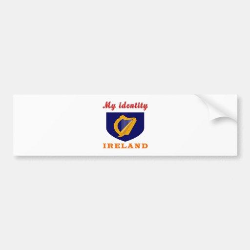 Mi identidad Irlanda Pegatina Para Auto