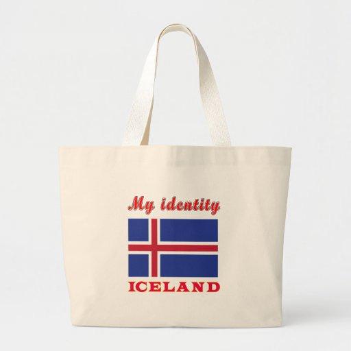 Mi identidad Islandia Bolsa Tela Grande