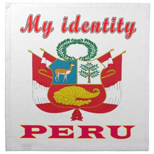 Mi identidad Perú Servilleta Imprimida