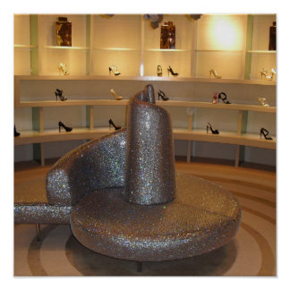 Mi impresión de la colección del zapato póster