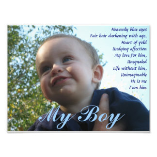 Mi impresión de la foto del muchacho