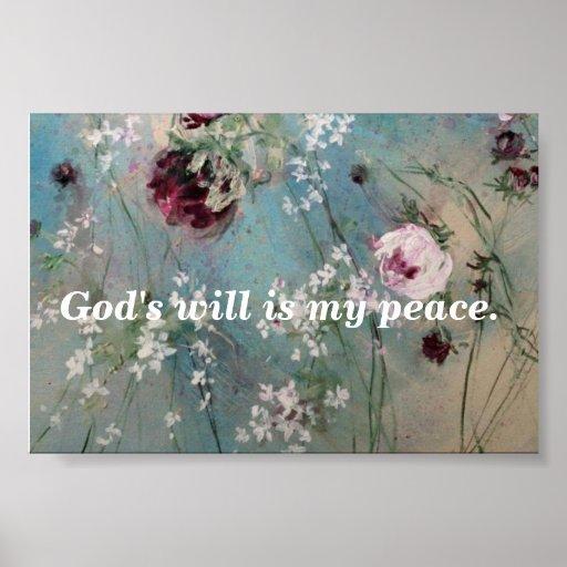 Mi impresión de la paz póster