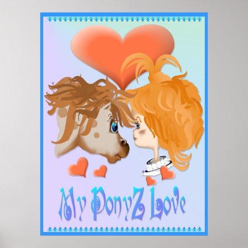 Mi impresión puesta letras amor de PonyZ Póster
