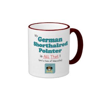 ¡Mi indicador de pelo corto alemán es todo el eso! Taza De Dos Colores