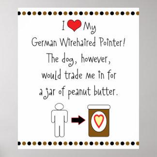 Mi indicador Wirehaired alemán ama la mantequilla Posters