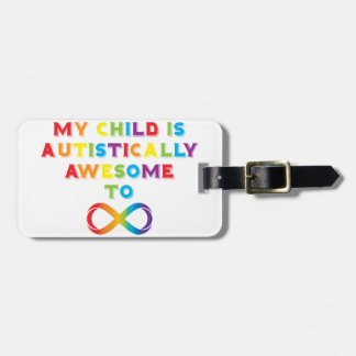 Mi infinito autístico impresionante del niño etiquetas maleta