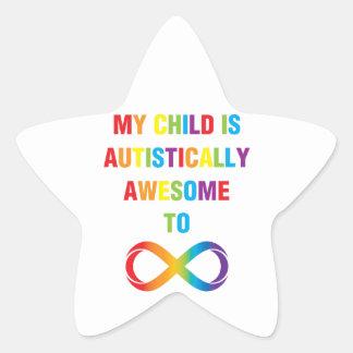 Mi infinito autístico impresionante del niño pegatina en forma de estrella