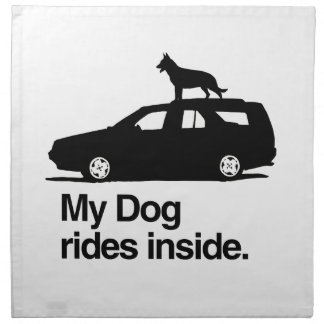 Mi interior de los paseos del perro - .png servilletas imprimidas