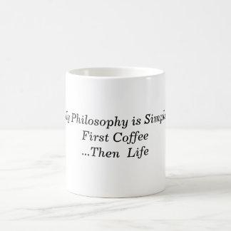 Mi itálico del siglo de la filosofía taza clásica