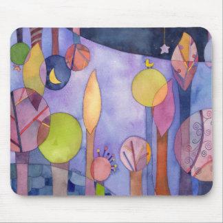Mi jardín en la noche Mousepad inspirado