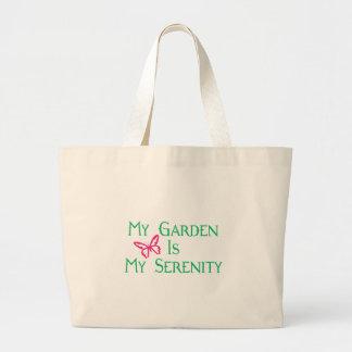 Mi jardín es mi serenidad bolsa de mano