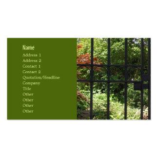 Mi jardín secreto tarjetas de visita