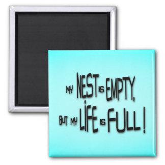 ¡Mi jerarquía está vacía, pero mi vida es llena! Imán Cuadrado