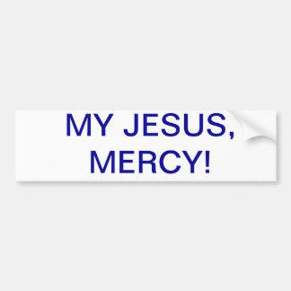 ¡Mi Jesús, misericordia! Pegatina Para Auto