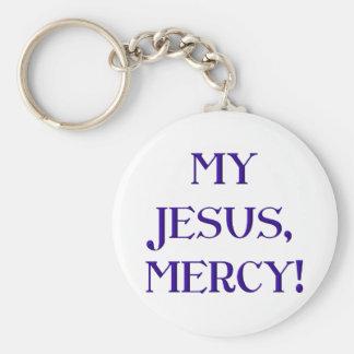 ¡Mi Jesús, misericordia! Llavero Personalizado