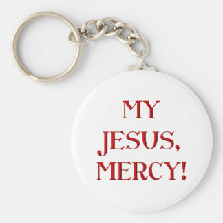¡Mi Jesús, misericordia! Llavero Redondo Tipo Pin