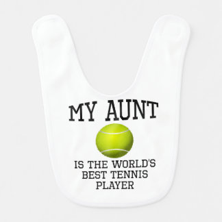 Mi jugador de tenis Best de tía Is The World's Babero De Bebé