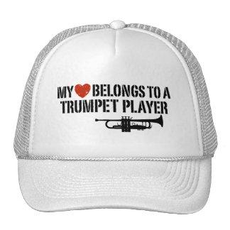 Mi jugador de trompeta del corazón gorras