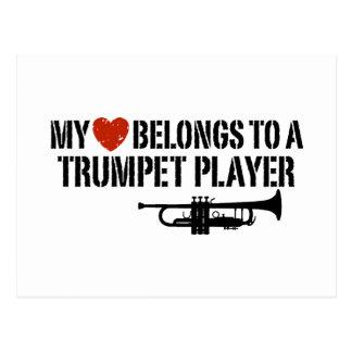 Mi jugador de trompeta del corazón postales