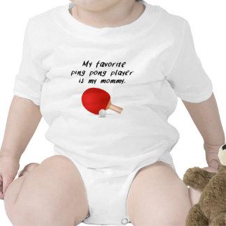Mi jugador preferido del ping-pong es mi mamá trajes de bebé